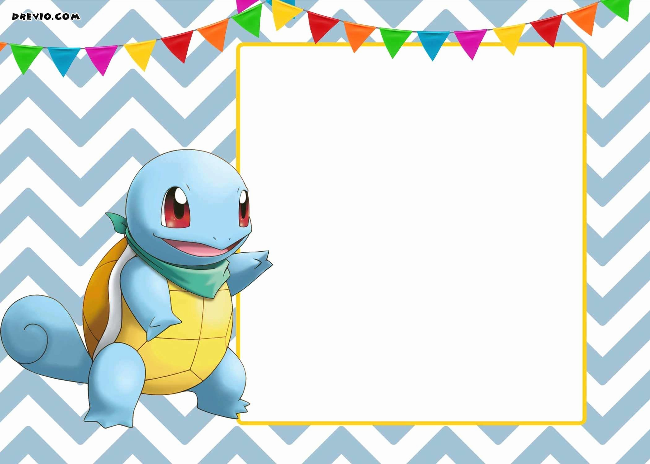 Party Invitation Templates Free Download Awesome New Pokemon Invitation Template Download