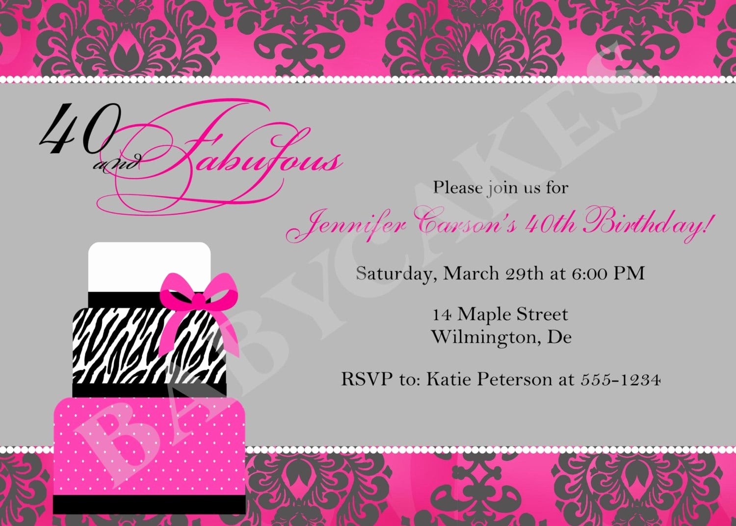 Party Invitation Templates Free Download Beautiful 40th Party Invitation Template Free