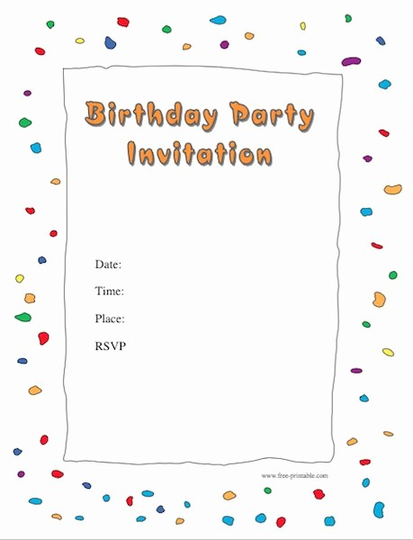 Party Invitation Templates Free Download Beautiful 43 Free Birthday Party Invitation Templates Free