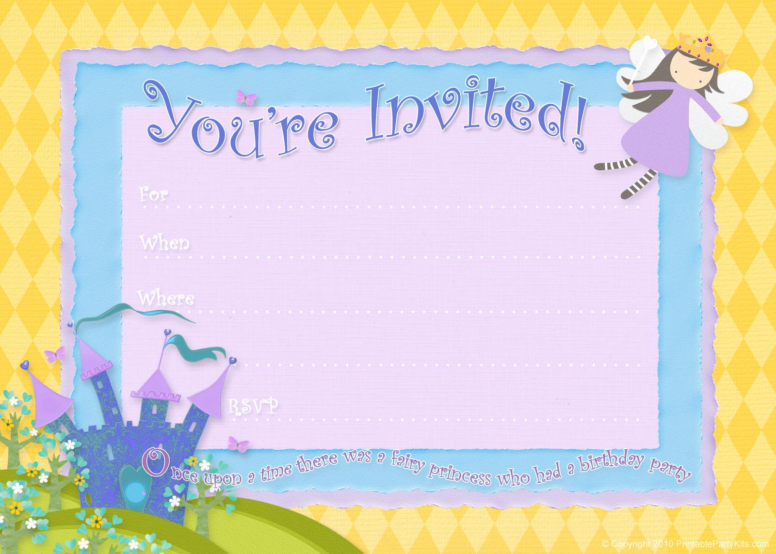 Party Invitation Templates Free Download Beautiful Free Birthday Party Invitations – Bagvania Free Printable