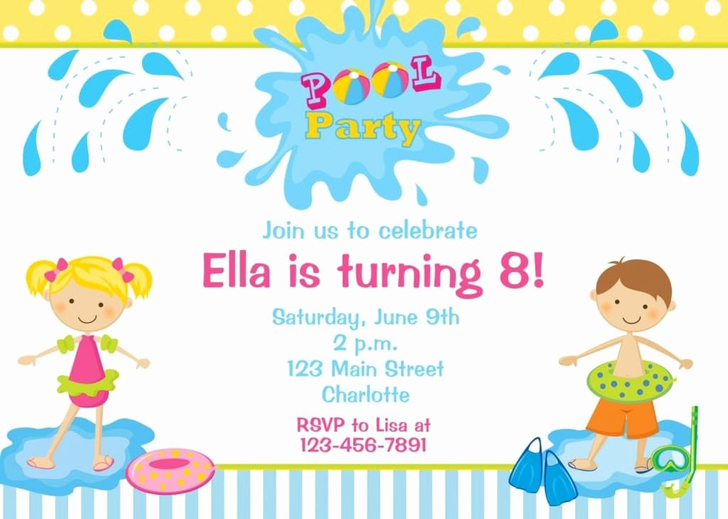 Party Invitation Templates Free Download Elegant Download Swim Party Invitation – orderecigsjuicefo