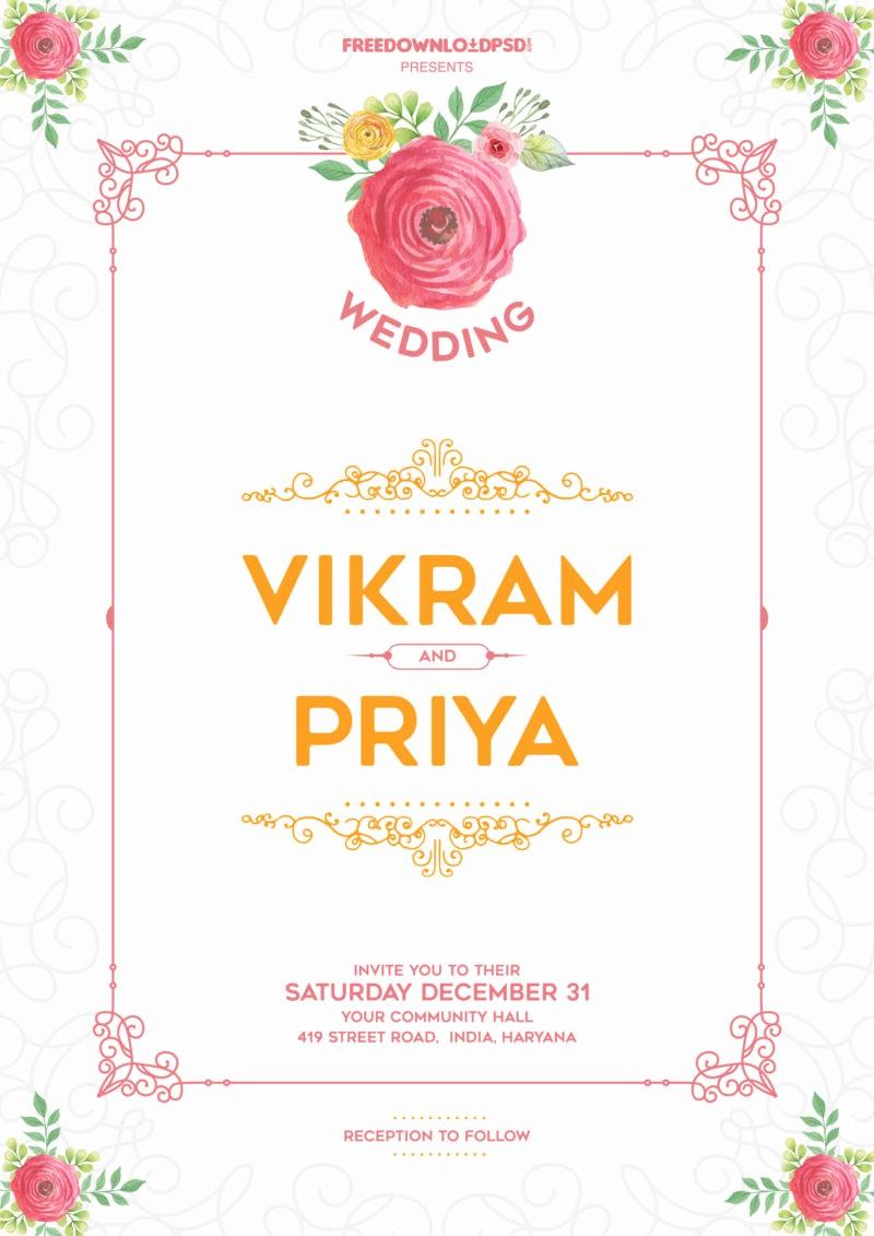 Party Invitation Templates Free Download Elegant Wedding Invitation Template