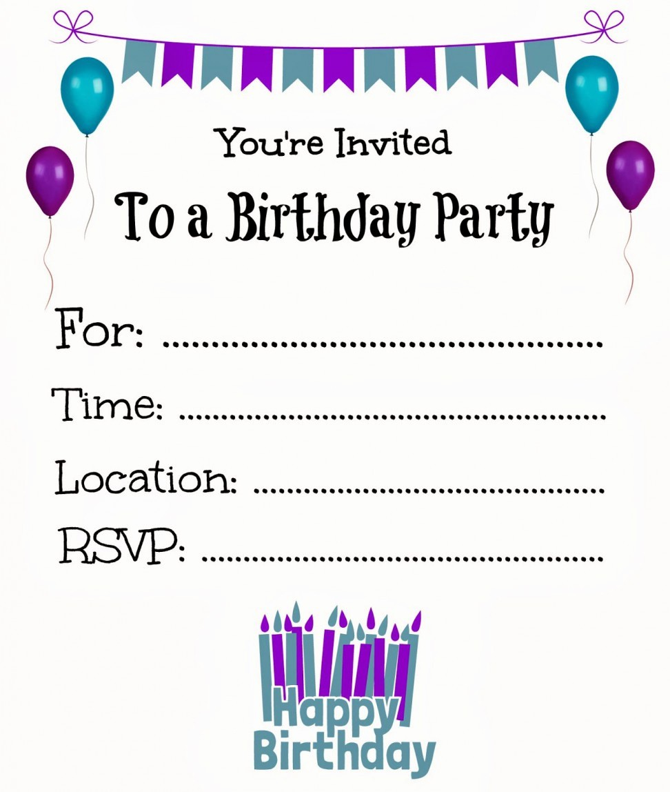 Party Invitation Templates Free Download Fresh Birthday Invitation Templates Birthday Invitation