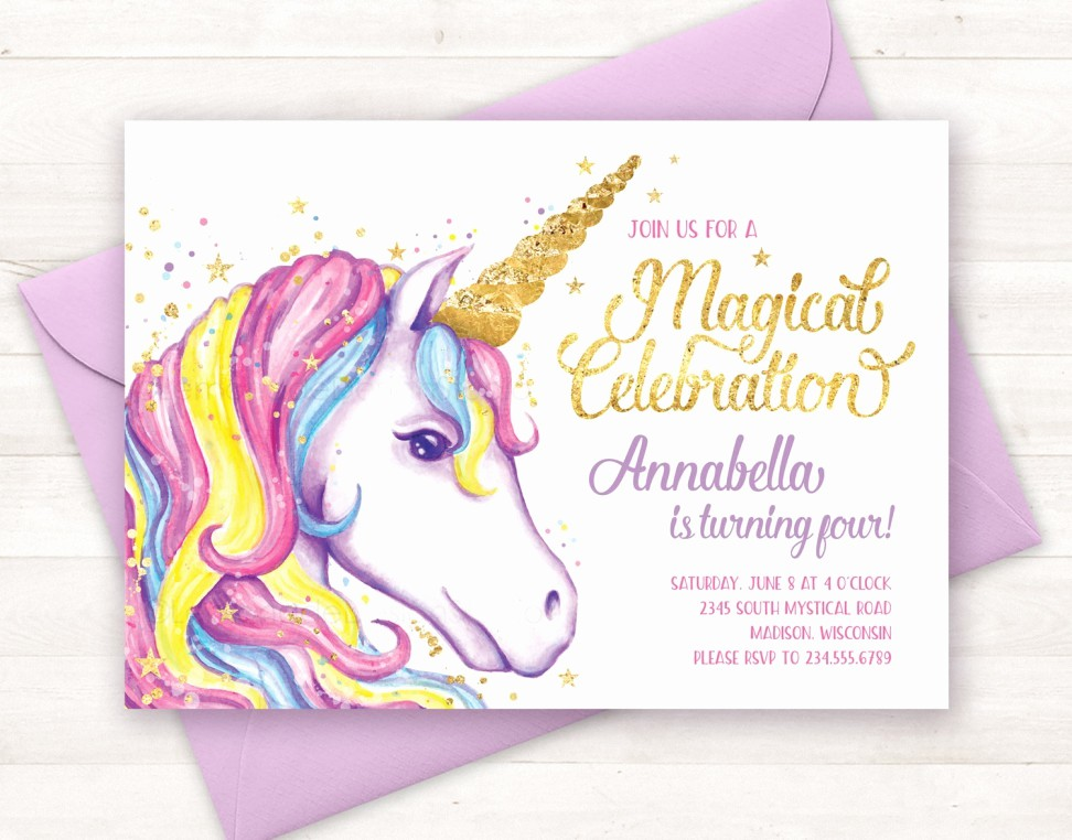 Party Invitation Templates Free Download Fresh Birthday Invitation Templates Unicorn Birthday Invitations
