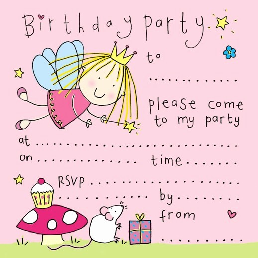 Party Invitation Templates Free Download Inspirational Free Printable Fairy Birthday Party Invitation