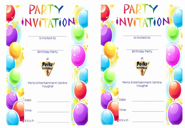 Party Invitation Templates Free Download Lovely 43 Free Birthday Party Invitation Templates Free
