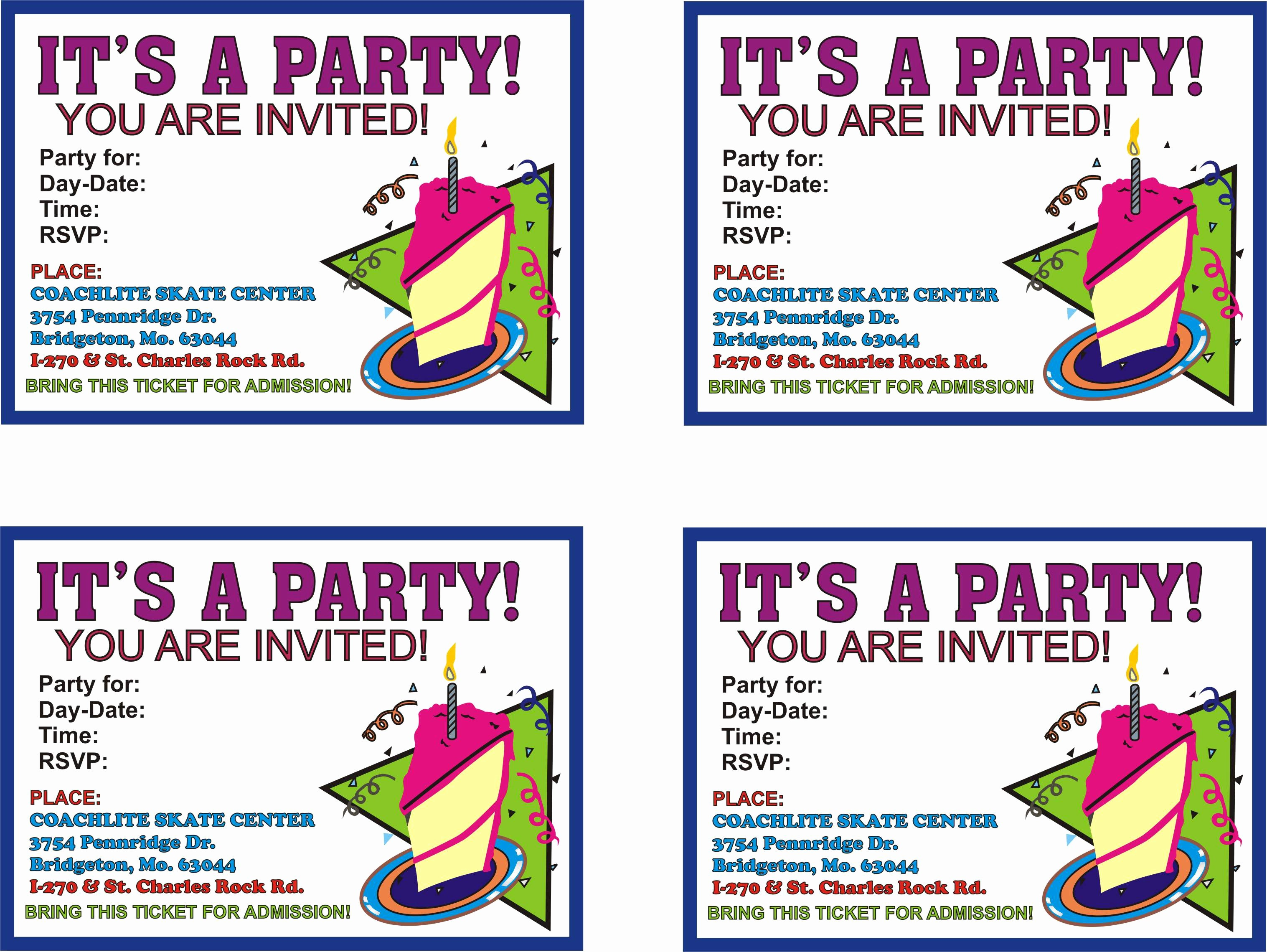 Party Invitation Templates Free Download Lovely Birthday Party Invitation Templates Free Download