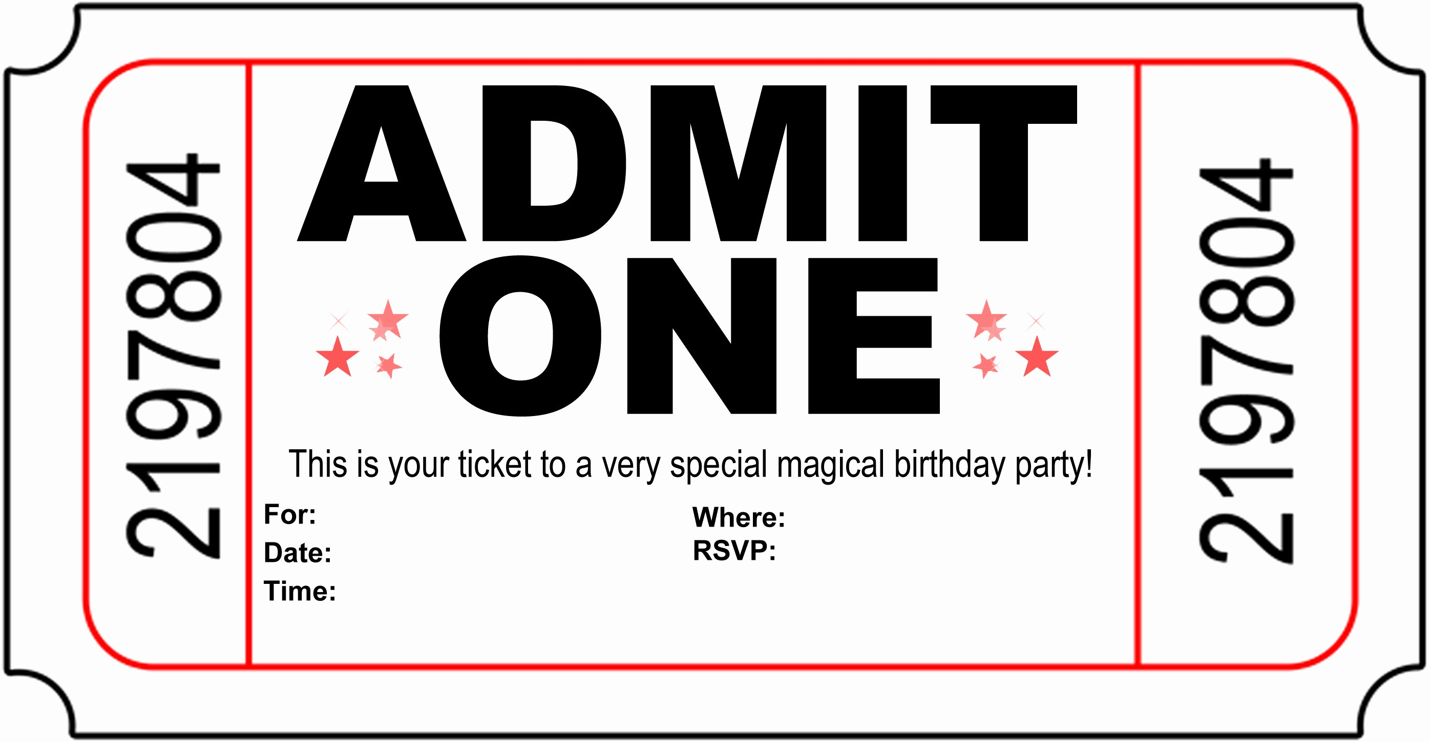 Party Invitation Templates Free Download Lovely Free Carnival Ticket Invitation Template Download Free