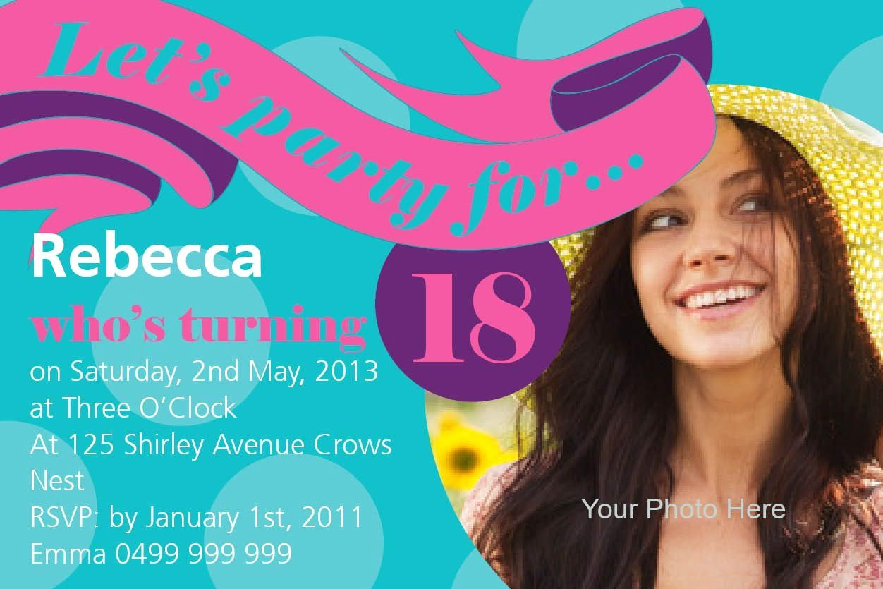 Party Invitation Templates Free Download New 18th Birthday Invitation Templates Free