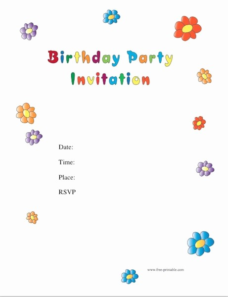 Party Invitation Templates Free Download Unique 43 Free Birthday Party Invitation Templates Free