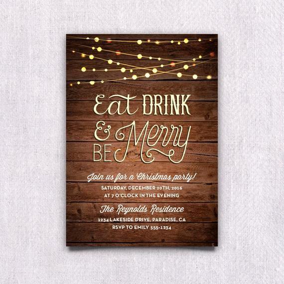 Party Invitation Templates Microsoft Word Beautiful Items Similar to Printable Christmas Party Invitation