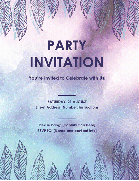 Party Invitation Templates Microsoft Word Best Of Party Invitation Flyer