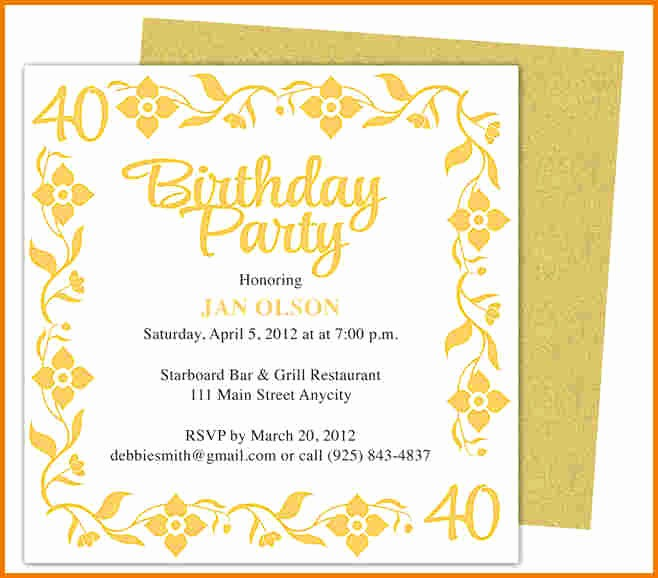 Party Invitation Templates Microsoft Word Inspirational Birthday Invitation Template Word