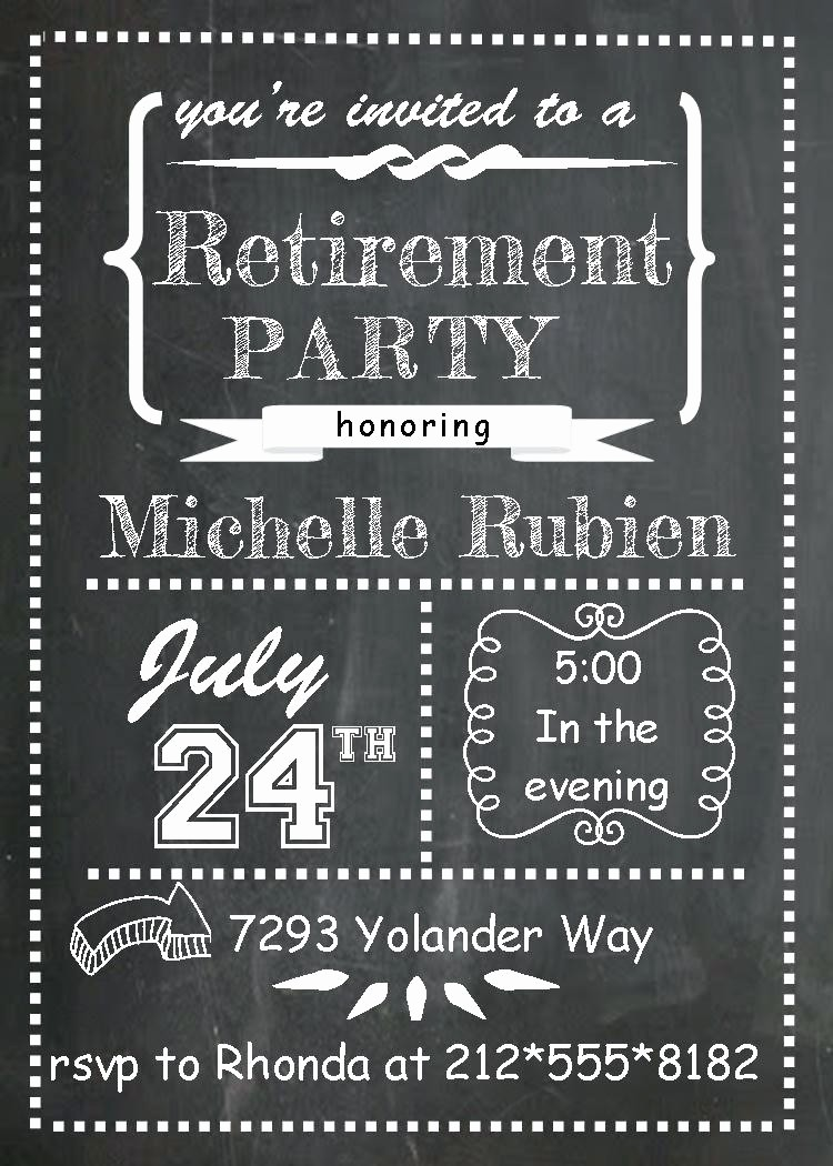 Party Invitation Templates Microsoft Word Luxury Template Retirement Party Invitation Template