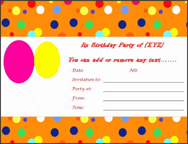 Party Invitations Templates Microsoft Word Beautiful 10 Ms Word Birthday Party Invitation Template