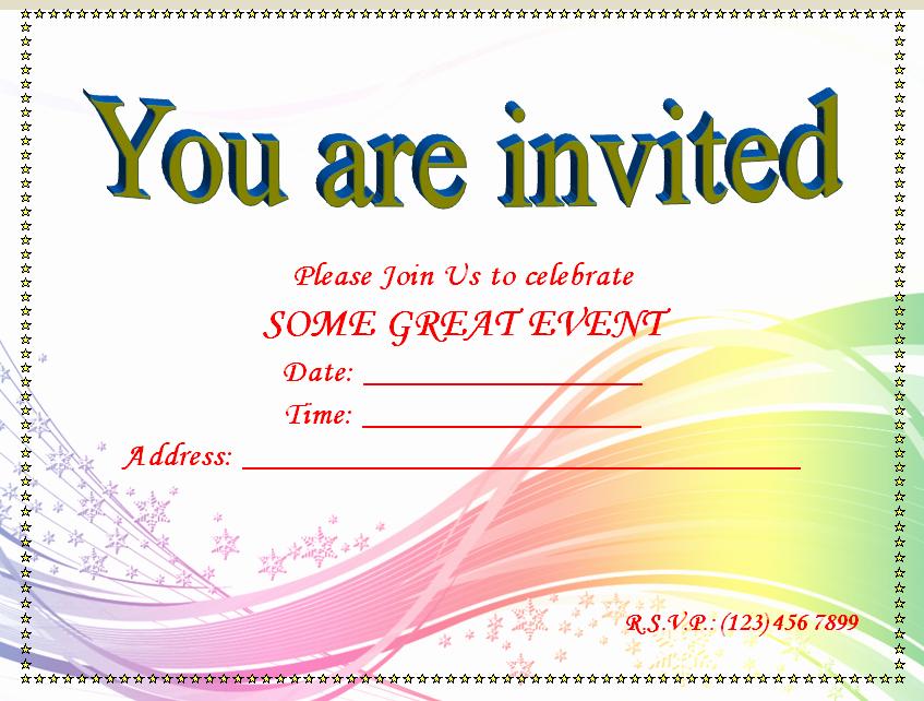 Party Invitations Templates Microsoft Word Elegant Blank Invitation Template for Word – orderecigsjuicefo