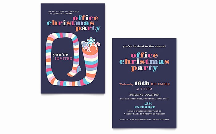 Party Invitations Templates Microsoft Word Inspirational Christmas Party Invitation Template Word & Publisher