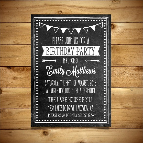 Party Invitations Templates Microsoft Word New 18 Ms Word format Birthday Templates Free Download