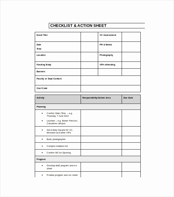 Party Planner Checklist Template Free Awesome 15 event Checklist Templates Pdf Doc