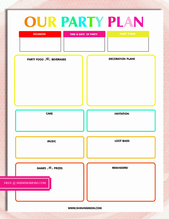 Party Planner Checklist Template Free Beautiful Free Printable Party Planning Template