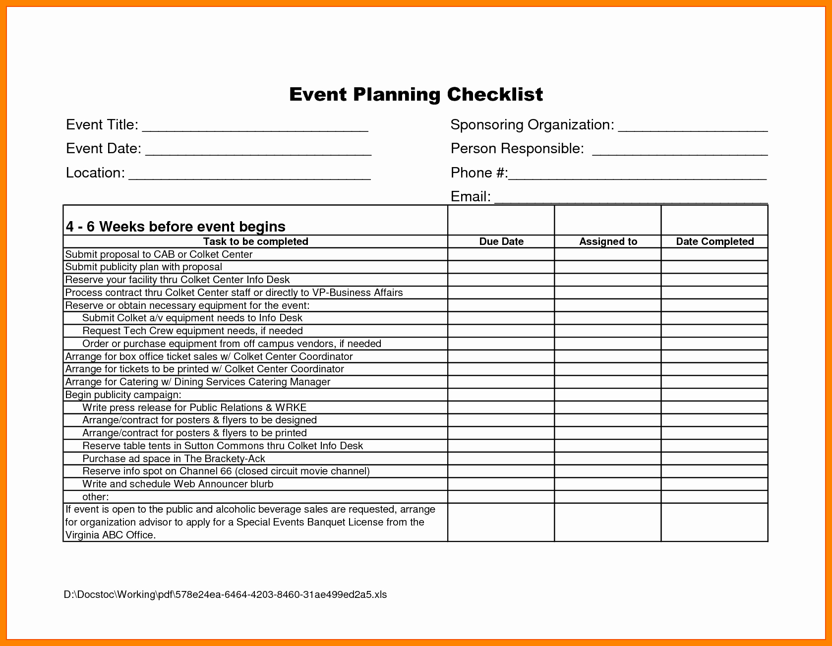 Party Planner Checklist Template Free New event Planning Proposal Sample Portablegasgrillweber
