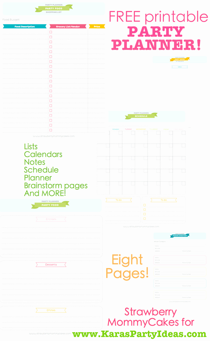 Party Planner Checklist Template Free New Free Party Planner Printable