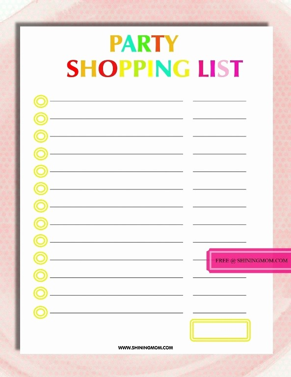 Party to Do List Template Best Of Free Printable Party Planning Template