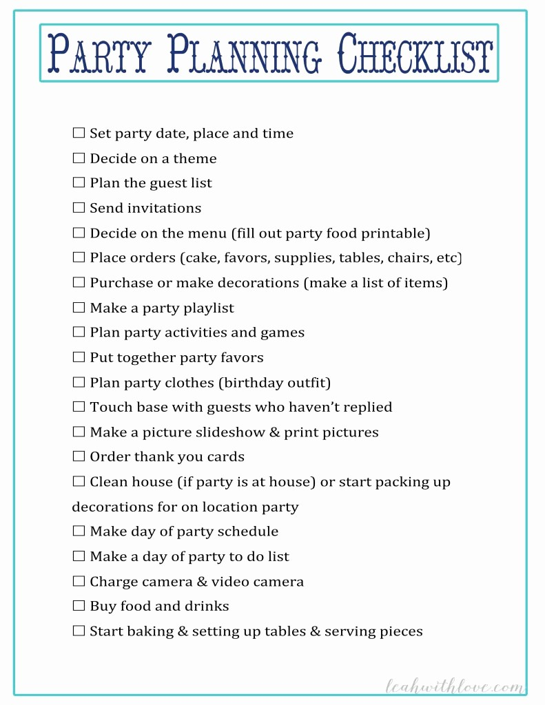 Party to Do List Template Elegant Sweet 16 Party Planning Checklist