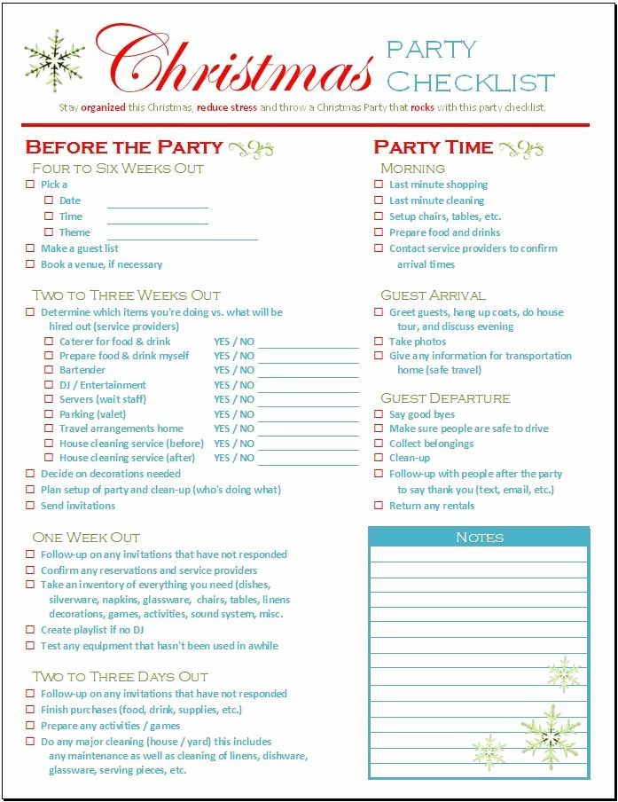Party to Do List Template Fresh Christmas Party Checklist Download Spreadsheetshoppe