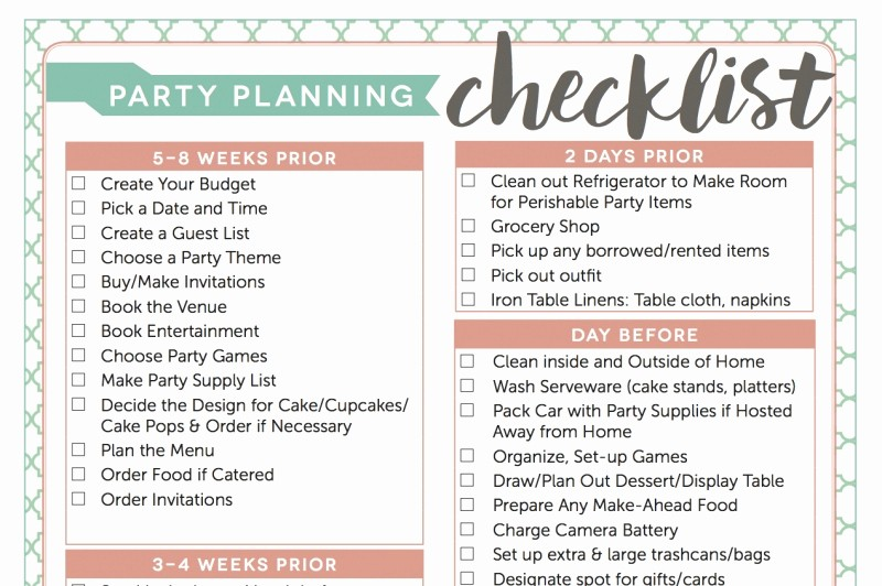 Party to Do List Template Inspirational Beautiful House Party Planning Checklist Gallery 3d House