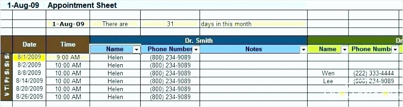 Patient Appointment Scheduling Template Excel Beautiful 6 Appointment Scheduling Template Tipstemplatess