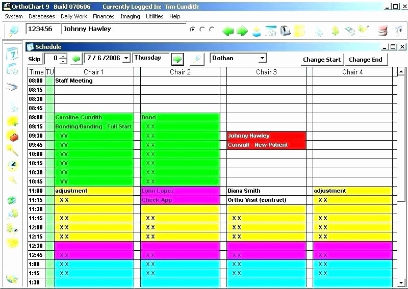 Patient Appointment Scheduling Template Excel Fresh Patient Appointment Schedule Template