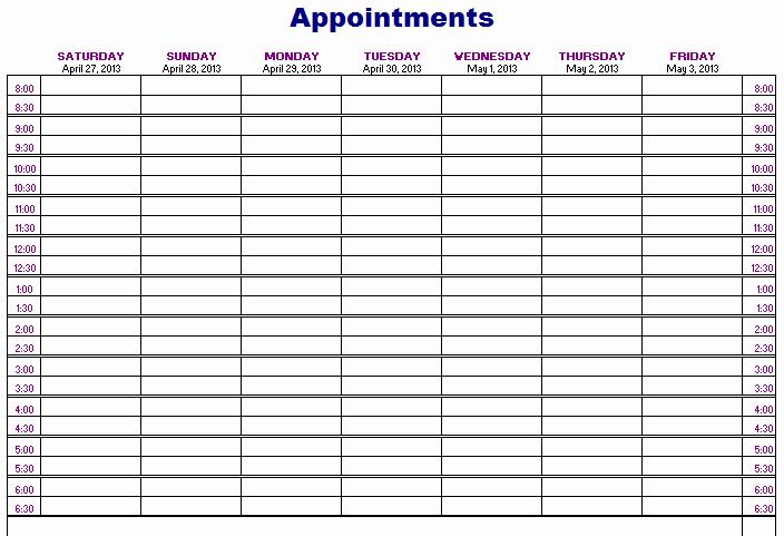 Patient Appointment Scheduling Template Excel Lovely Importance Of Appointment Schedule Small Business