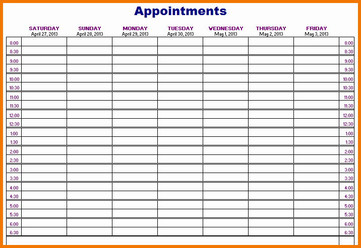 Patient Appointment Scheduling Template Excel Lovely Printable Appointment Calendar Printable 360 Degree