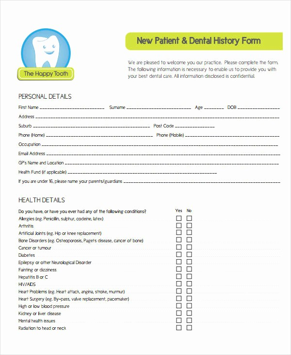 Patient Health History form Template New Medical History form 9 Free Pdf Documents Download