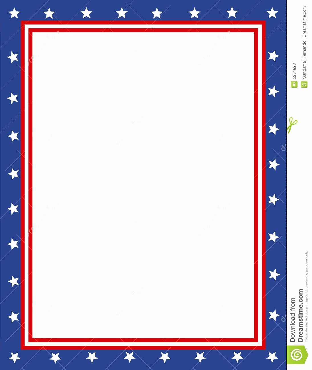 Patriotic Borders for Word Documents Awesome Free Patriotic Page Borders Patriotic Border