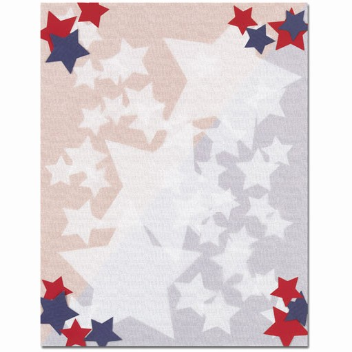 Patriotic Borders for Word Documents Awesome Red White & Blue Patriotic Stars Border Paper Your