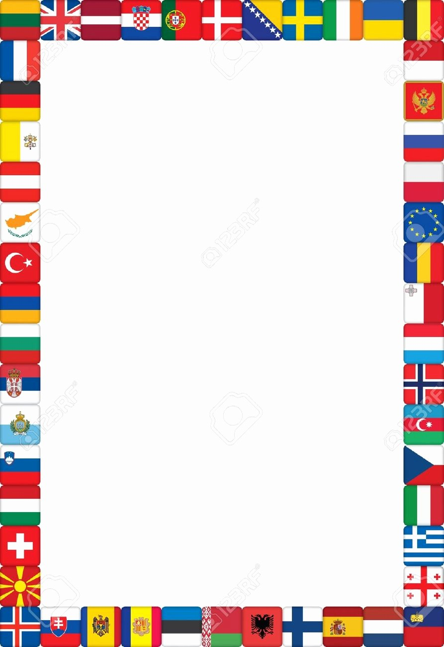 Patriotic Borders for Word Documents Awesome United Nations Flag Clipart Page Borders 1 893 X 1300
