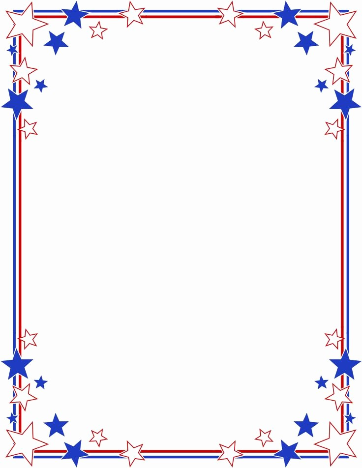 Patriotic Borders for Word Documents Beautiful Stripes Page Border Stars Stripes Border Clipart