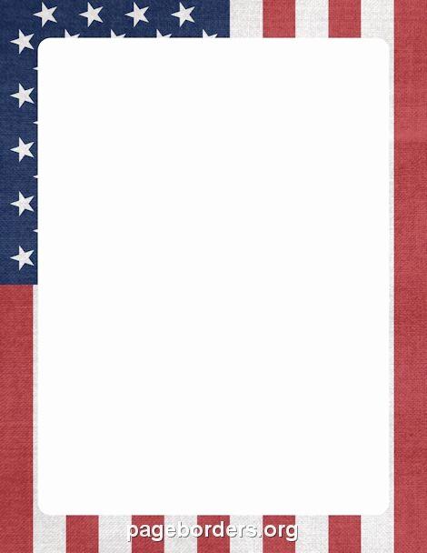 Patriotic Borders for Word Documents Elegant American Flag Border