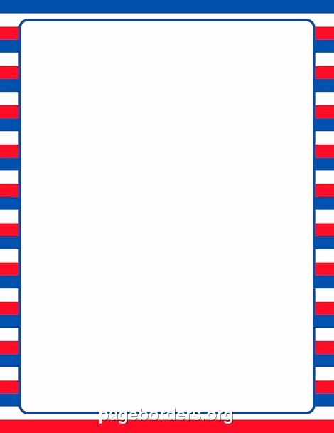Patriotic Borders for Word Documents Elegant Printable Page Borders Patriotic