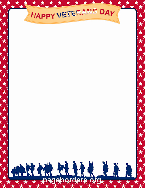 Patriotic Borders for Word Documents Elegant Veterans Day Border Clip Art Page Border and Vector