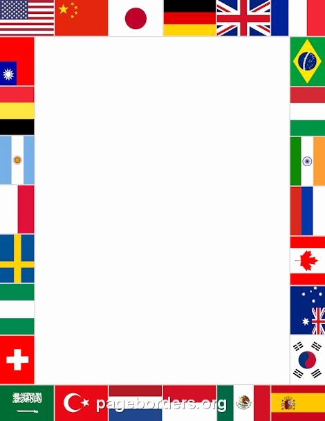 Patriotic Borders for Word Documents Fresh Printable World Flags Border Use the Border In Microsoft
