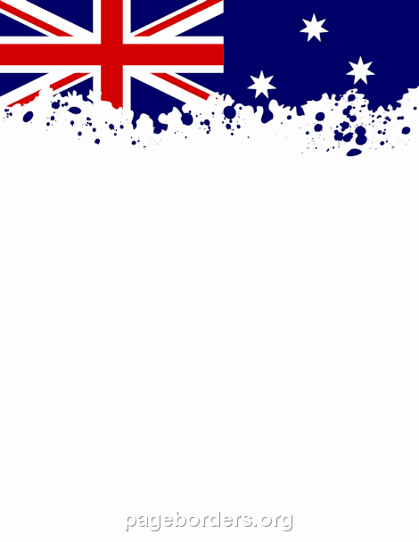 Patriotic Borders for Word Documents Inspirational Australian Flag Border Clip Art Page Border and Vector