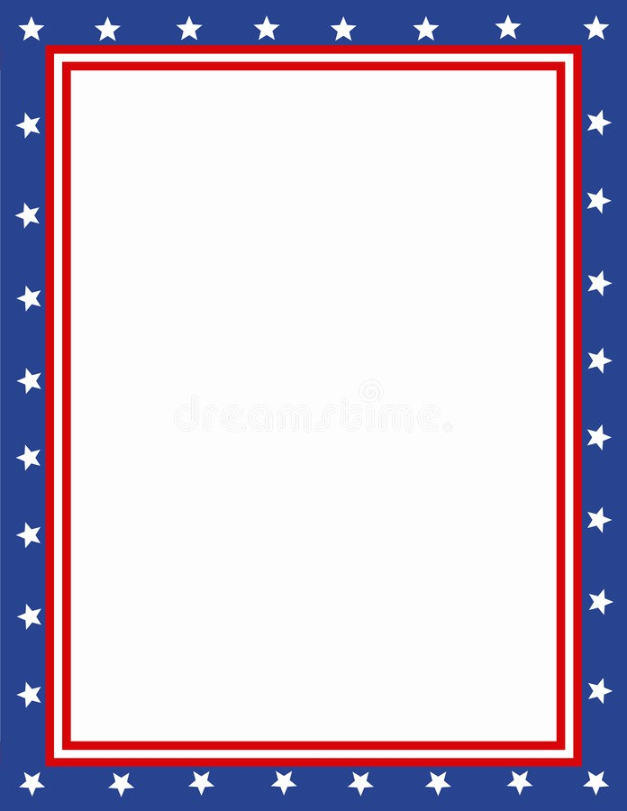 Patriotic Borders for Word Documents Inspirational Patriotic Border Stock Illustration Illustration Of