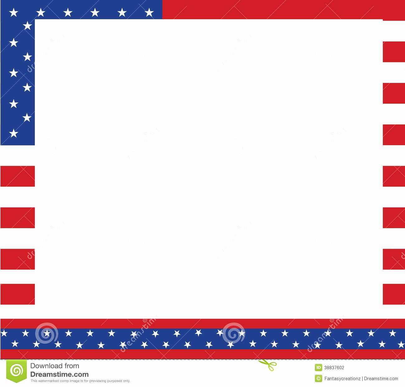 Patriotic Borders for Word Documents Inspirational Patriotic Border Stock Vector Illustration Of Backgrounds