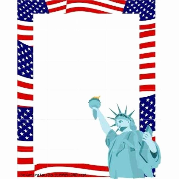 Patriotic Borders for Word Documents Lovely Patriotic Page Borders Clipart Best
