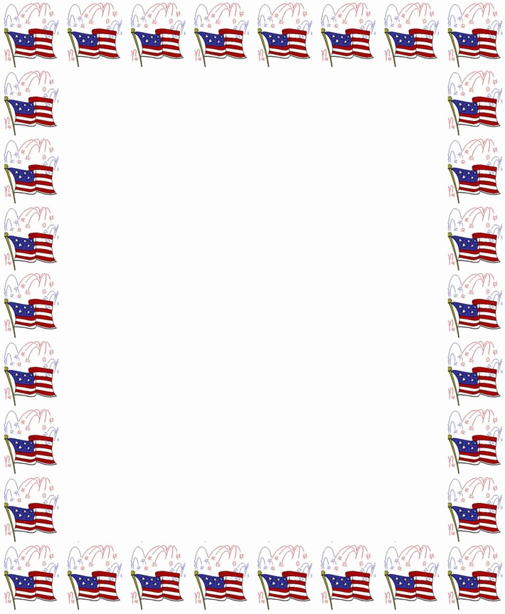 Patriotic Borders for Word Documents Luxury 7 Best Of Flag Border Paper Free Printable