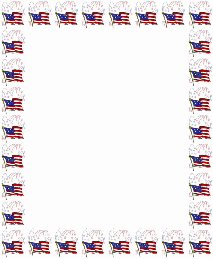 Patriotic Borders for Word Documents Luxury 7 Best Of Flag Border Paper Free Printable