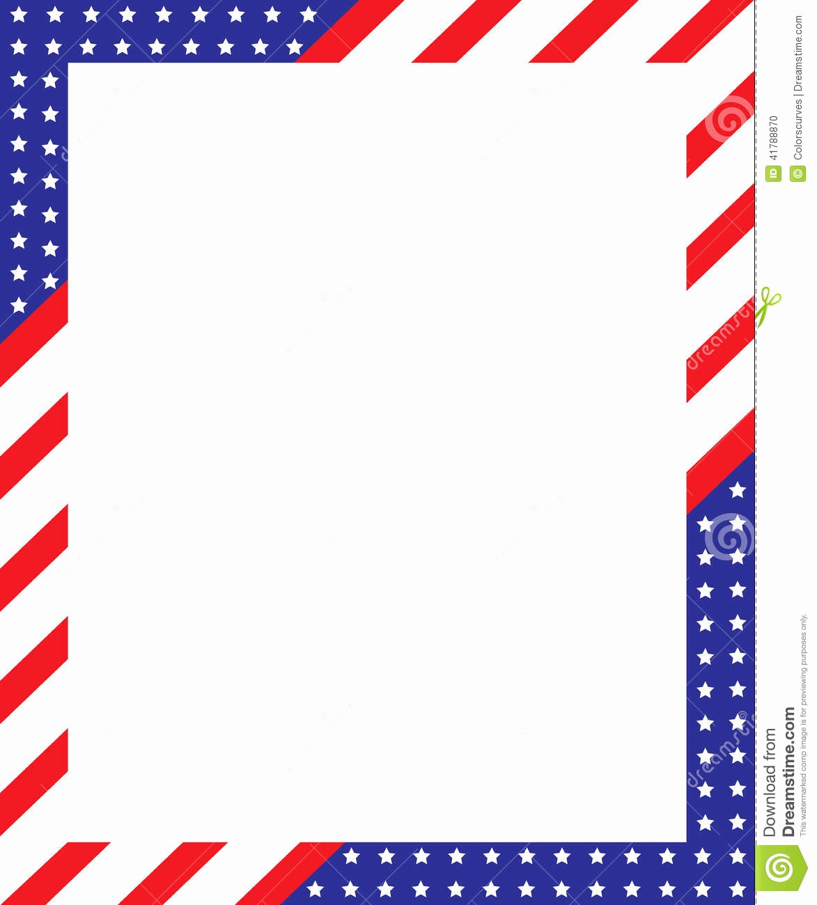 Patriotic Borders for Word Documents Luxury Patriotic Border Frame Stock Vector Illustration Of